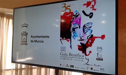 2 de mayo 2016 presentación del cartel Gala benéfica 35 Aniversario AMUPHEB en el Moneo2